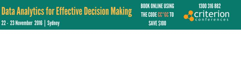 Data Analytics for Effective Decision Making