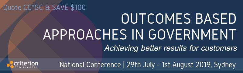 3rd Outcomes Based Approaches in Government Conference